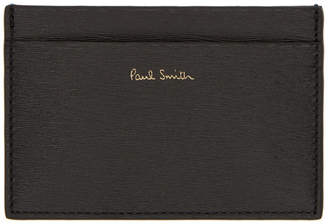 Paul Smith Black Straw Grain Credit Card Holder