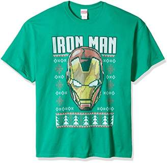 Marvel Men's Big and Tall Iron Man Ugly Christmas T-Shirt B&t,5XL
