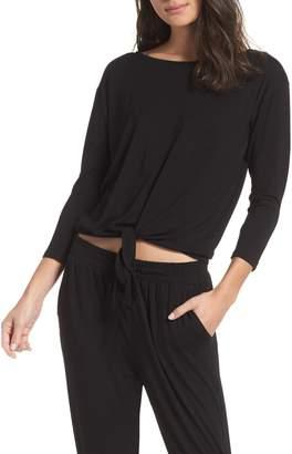 BB Dakota Tie Front Pajama Top