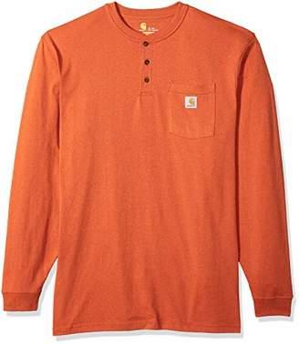 Carhartt Men's Big & Tall Workwear Pocket Long Sleeve Henley Shirt