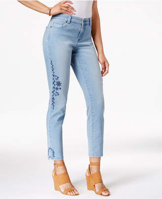 Style & Co Embroidered Calabasas Wash Skinny Jeans, Only at Macy's $59.50 thestylecure.com