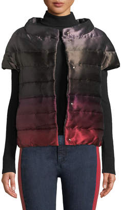Herno Short-Sleeve Down-Fill Ombre Puffer Coat