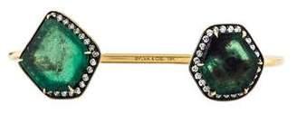 Sylva + Cie 18K Emerald & Diamond Cuff