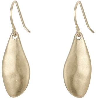 The Sak Small Metal Petal Drop Earrings Earring