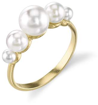 Irene Neuwirth Triple Cultured Akoya Pearl Ring