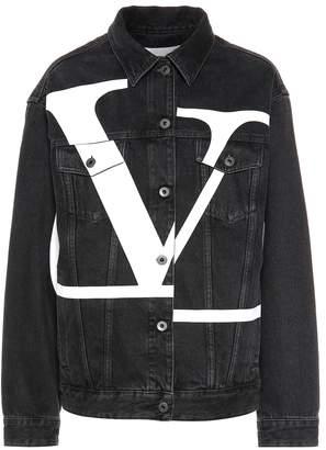 Valentino Printed denim jacket