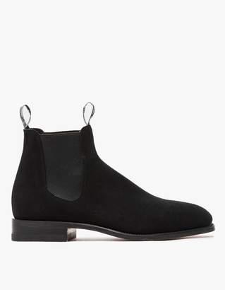 R.M. Williams Black Suede Craftsman Boot