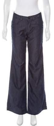 Nicholas K Mid-Rise Wide-Leg Jeans