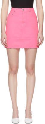 MSGM Pink Denim Miniskirt