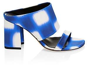 Dries Van Noten Women's Stephen Stripe Block-Heel Sandals