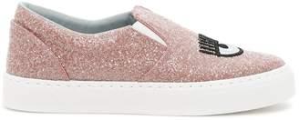 Chiara Ferragni Logomania Glitter Sneakers