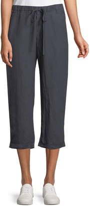 Allen Allen Cropped Linen Drawstring Pants