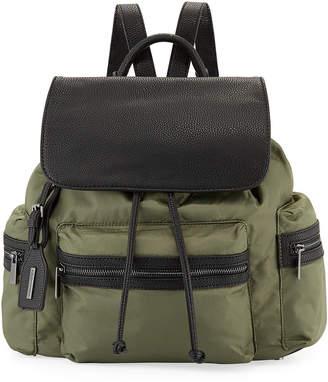 e5459881df Neiman Marcus Elizabeth Contrast-Trim Nylon Backpack