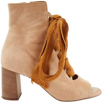 Chloé Pink Suede Ankle boots