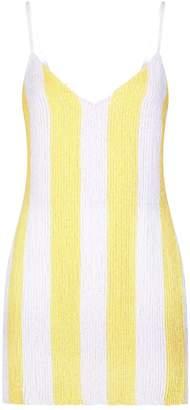 retrofete Claire Sequin Stripe Mini Dress
