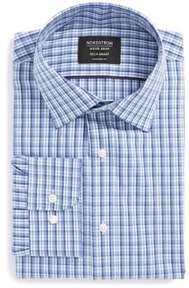 Nordstrom Tech-Smart Traditional Fit Stretch Plaid Dress Shirt