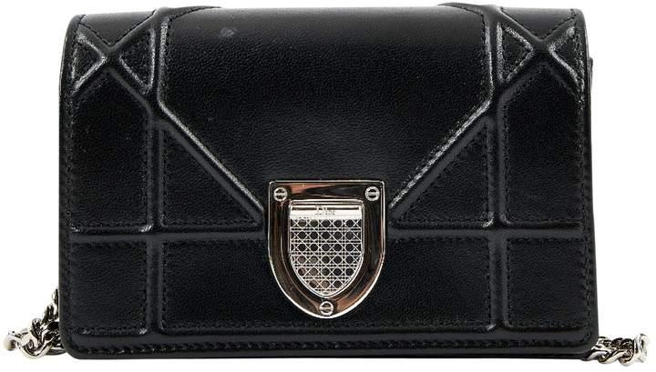 Diorama leather clutch bag