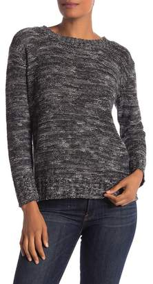 Susina Crew Neck Marled Knit Sweater (Regular & Petite)