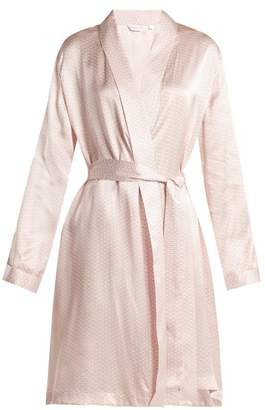 Derek Rose Brindisi 26 Kimono - Womens - White Pink
