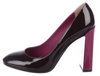 Fendi Patent Leather Semi-Pointed Toe Pumps w/ Tags