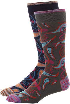 Robert Graham Men's Paisley Dress Socks, 2 Pack
