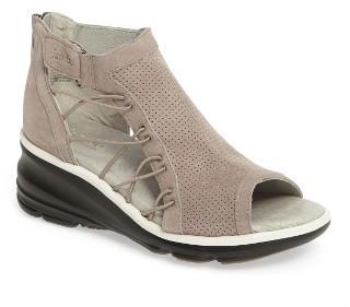 Women's Jambu Naomi Perforated Wedge Sandal $138.95 thestylecure.com