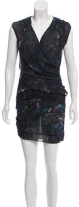 IRO Printed Cap-Sleeve Dress