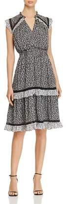 Kate Spade Plains Ditsy Ruffled Tiered Dress