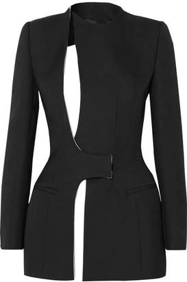 Haider Ackermann Cutout Cotton-blend Crepe Blazer - Black