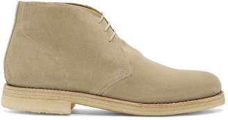 Grenson Beige Suede Oscar Desert Boots