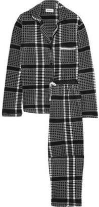 DKNY Checked Fleece Pajama Set