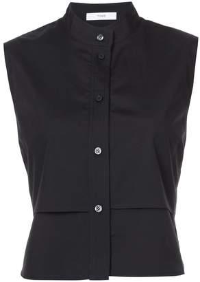 Tome sleeveless layered shirt