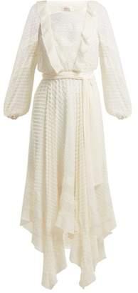 Zimmermann Hanky Silk Midi Dress - Womens - Ivory