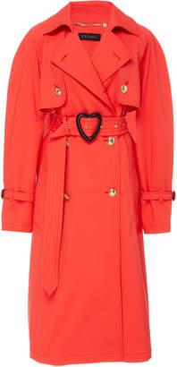 Escada Cotton-Blend Heart Belt Trench Coat
