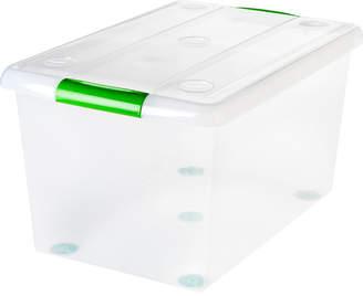 Iris 61 Quart Store and Slide Storage Box