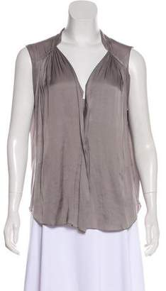 Raquel Allegra Sleeveless Scoop Neck Blouse
