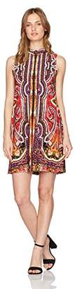 Tiana B Women's Petite Printed Trapeze Dress