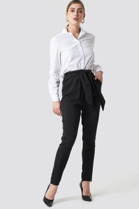 NA-KD Na Kd Knot Suiting Pants Beige