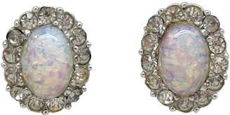 One Kings Lane Vintage Marcel Boucher Faux-Opal Earrings