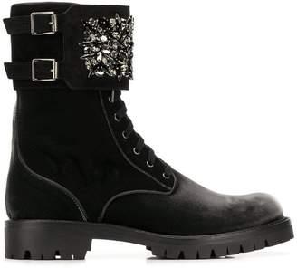 Rene Caovilla embellished strap ankle boots