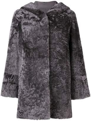 Drome hooded fur coat