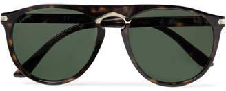 Cartier Eyewear Aviator-Stlye Tortoiseshell Acetate And Gold-Tone Sunglasses