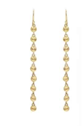 Diana Mitchell Long Gold Nugget Drop Earrings - Yellow Gold
