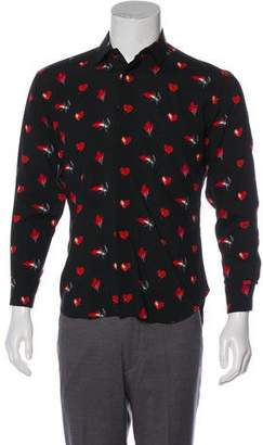 Saint Laurent Heart Dress Shirt