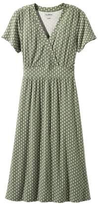 L.L. Bean L.L.Bean Summer Knit Dress, Short-Sleeve Geo Print