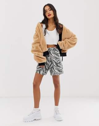 Noisy May tropical loose shorts