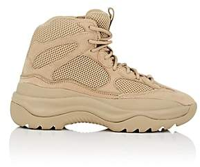 Yeezy Men's Mixed-Material Military Boots-Beige, Tan