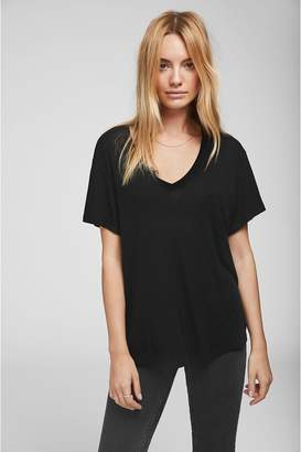 Anine Bing Deep Vneck Tshirt - Black