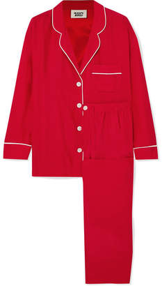 Sleepy Jones - Marina Silk-charmeuse Pajama Set - Red