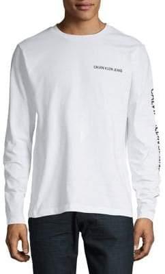 Calvin Klein Jeans Crewneck Cotton Long Sleeve Shirt